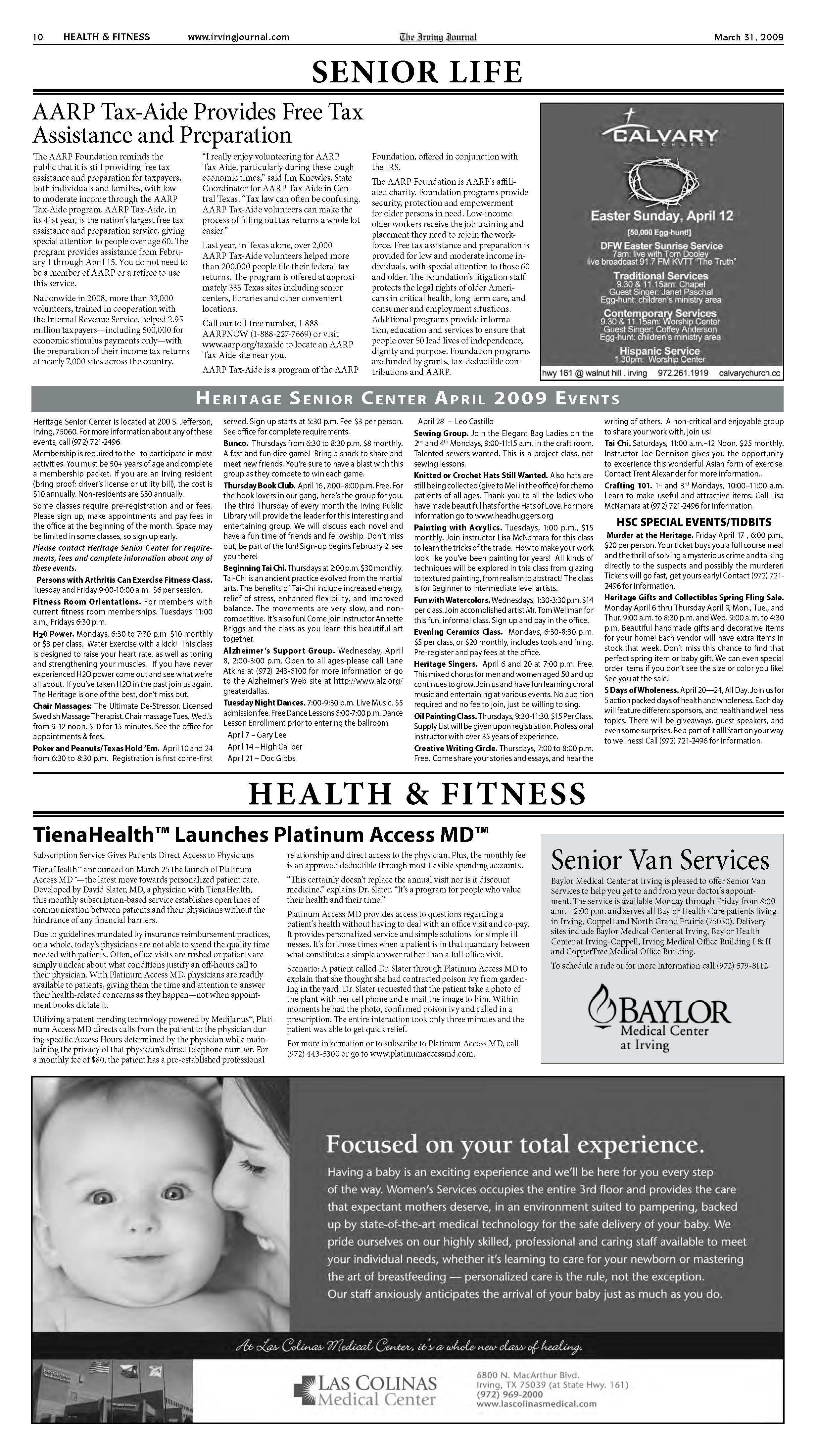 ARTICLE l Tiena Health Irving Journal